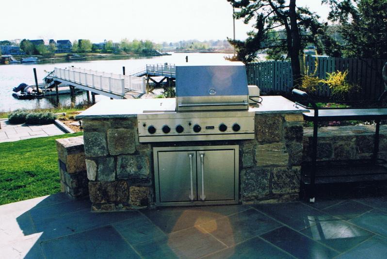 Outdoor kitchen with storage