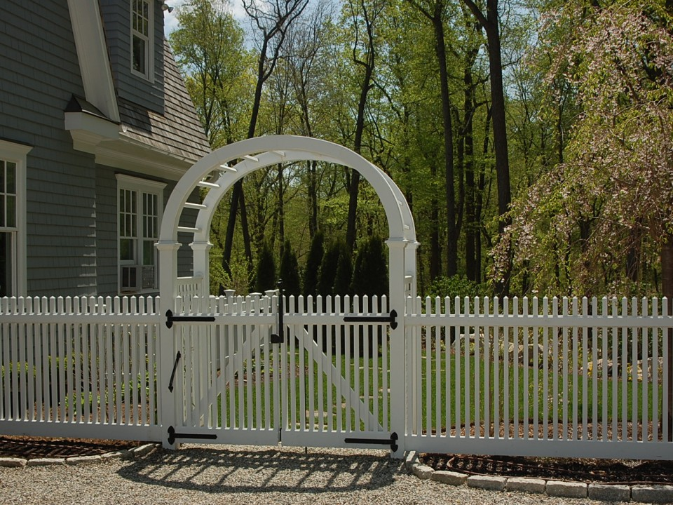 Wood gate and arbor