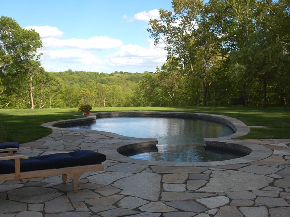 Granite pool deck