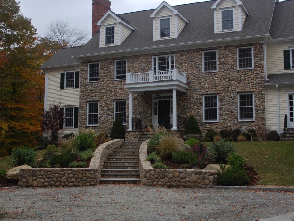 Bluestone treds with New England stone