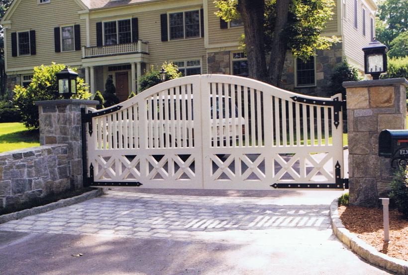 Custom automated wood gate