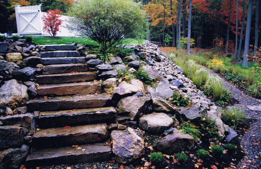 Native bolder stairs