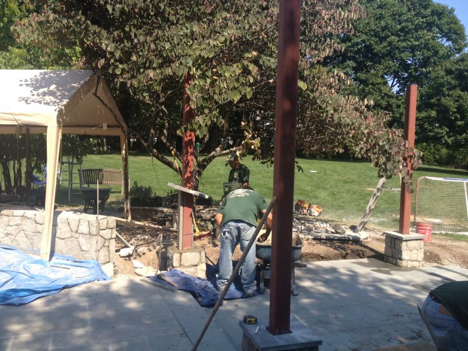 Trellis and patio construction