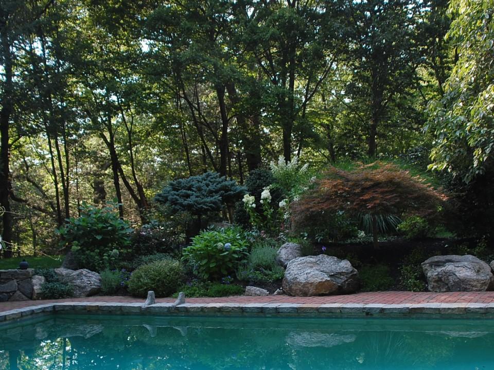 Brick pool deck