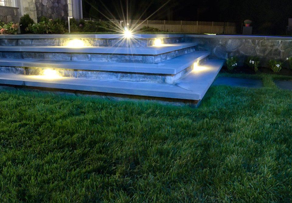 Step riser lighting